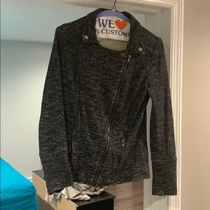 Market and Spruce French Terry Moto Jacket